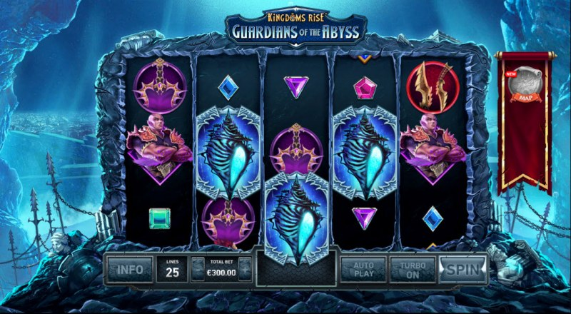 Kingdom Rise Guardians of the Abyss :: Scatter symbols triggers the free spins bonus feature