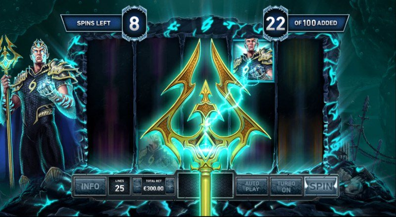 Kingdom Rise Guardians of the Abyss :: Extra Odeon symbols added to the reels during the free spins feature