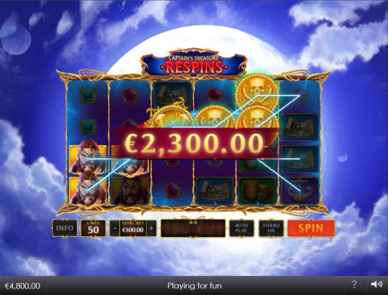 Kingdoms Rise Captain's Treasure :: A five of a kind win