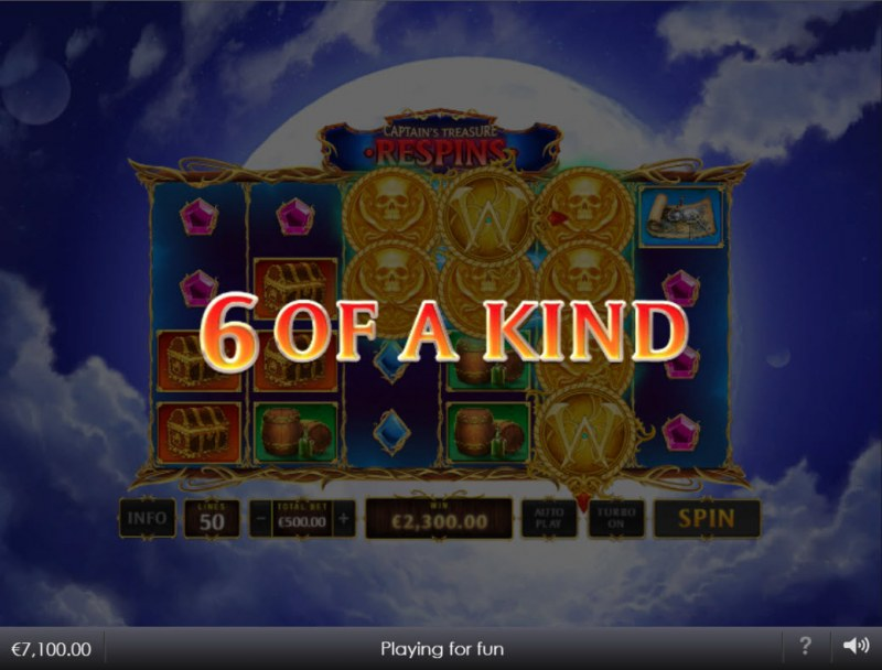 Kingdoms Rise Captain's Treasure :: A six of a kind win