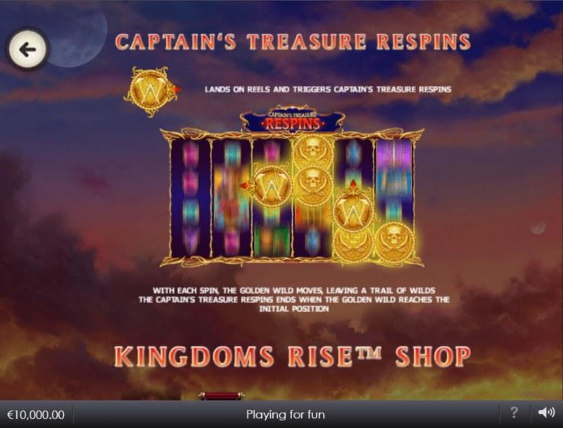 Kingdoms Rise Captain's Treasure :: Respin Feature