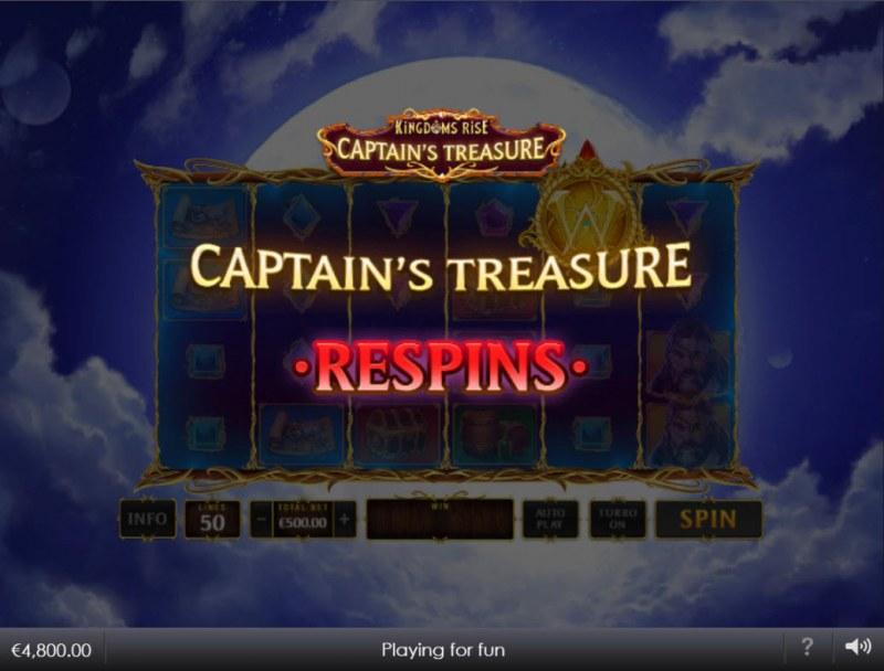 Kingdoms Rise Captain's Treasure :: Respin activated