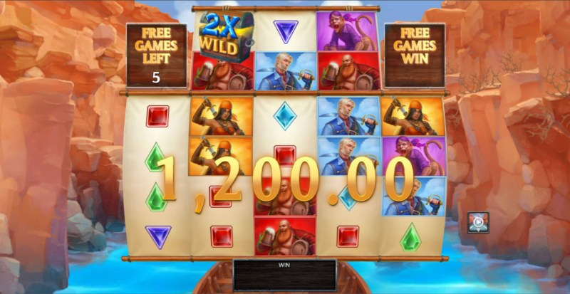 Kingdoms Rise Chasm of Fear :: Free Spins Game Board
