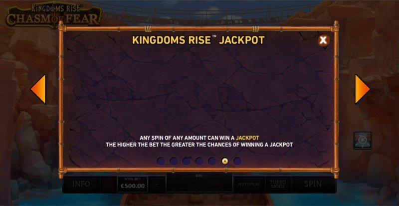 Kingdoms Rise Chasm of Fear :: Jackpot Rules
