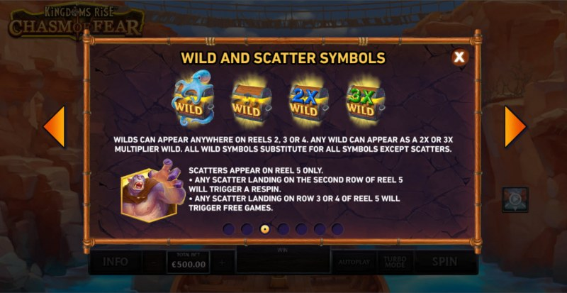 Kingdoms Rise Chasm of Fear :: Wild and Scatter Rules