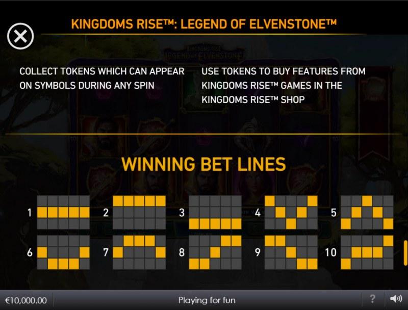 Kingdoms Rise Legend of Elvenstone :: Paylines 1-10