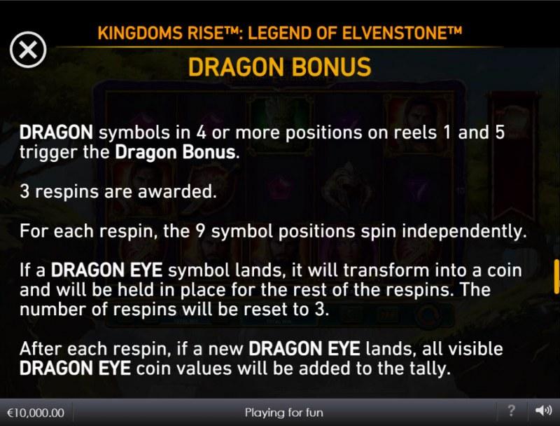 Kingdoms Rise Legend of Elvenstone :: Dragon Bonus