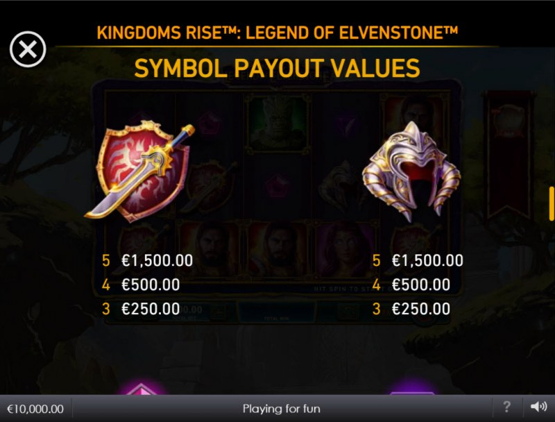 Kingdoms Rise Legend of Elvenstone :: Paytable - Medium Value Symbols