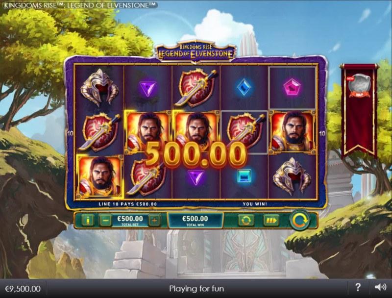 Kingdoms Rise Legend of Elvenstone :: A three of a kind win