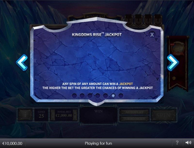 Kingdoms Rise Reign of Ice :: Jackpot Rules