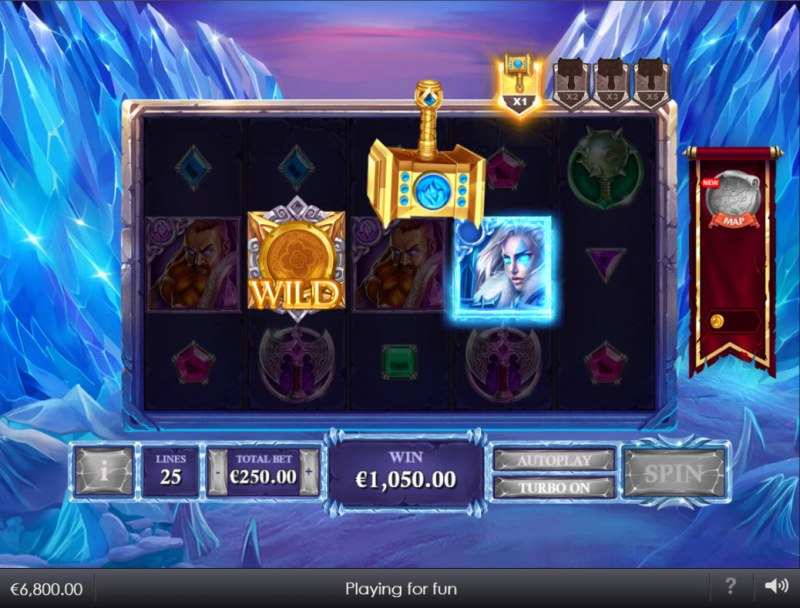 Kingdoms Rise Reign of Ice :: Release the hammer to start respins feature