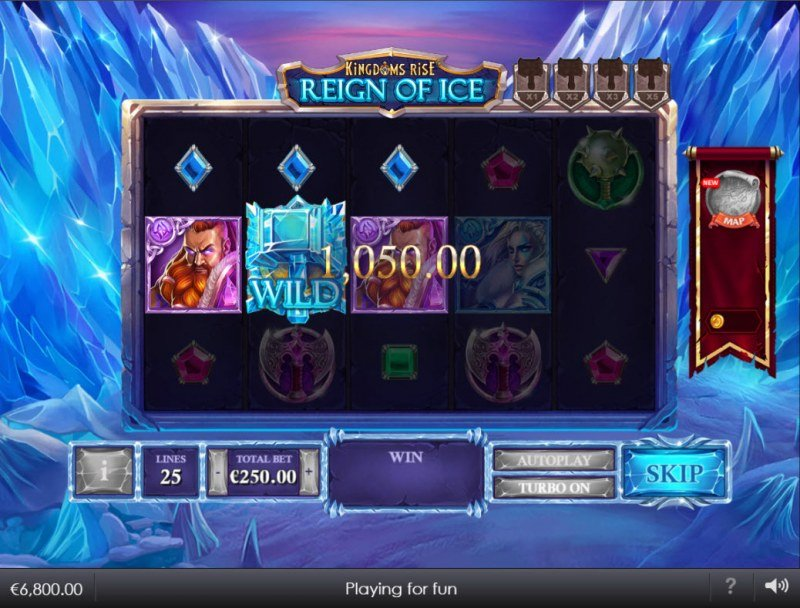 Kingdoms Rise Reign of Ice :: A three of a kind win