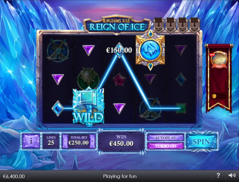 Kingdoms Rise Reign of Ice :: Multiple winning paylines