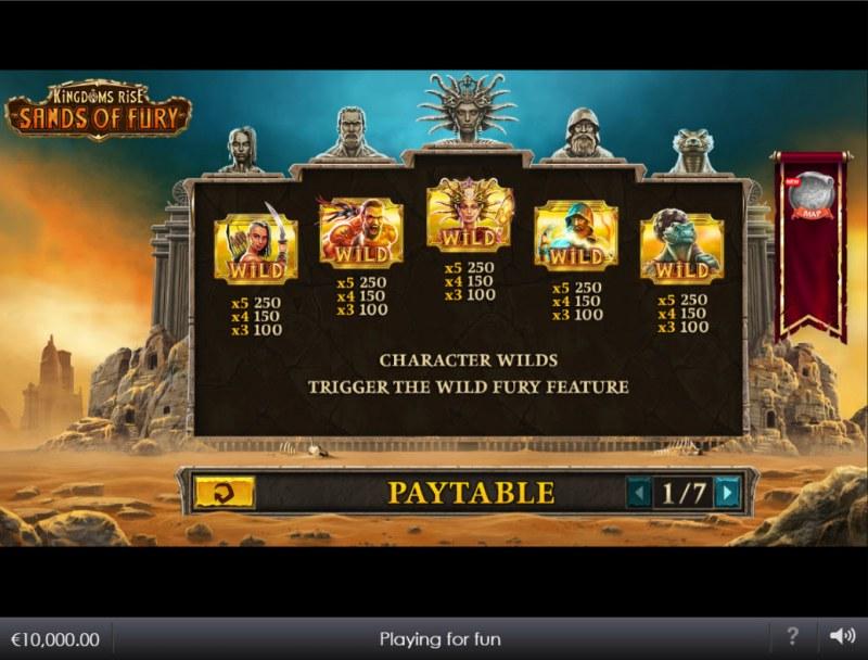 Kingdoms Rise Sands of Fury :: Wild Symbol Rules