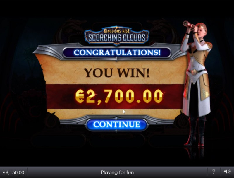 Kingdoms Rise Scorching Clouds :: Total Free Spins Payout