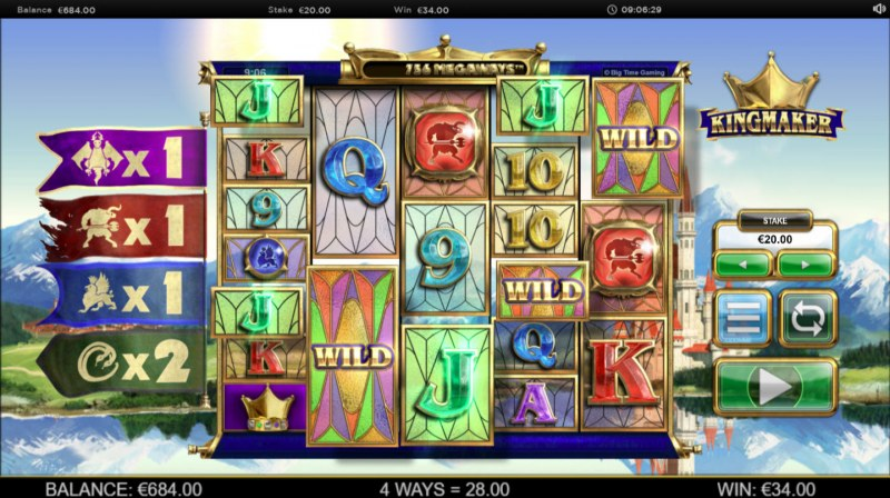 Kingmaker Megaways :: Multiple winning combinations