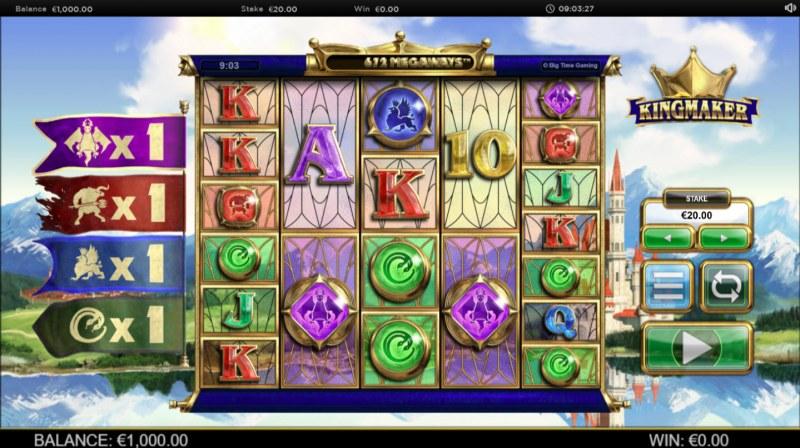 Kingmaker Megaways :: Main Game Board