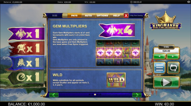 Kingmaker Megaways :: Feature Rules