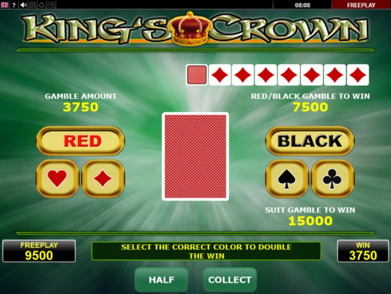 King's Crown :: Gamble Feature Game Board