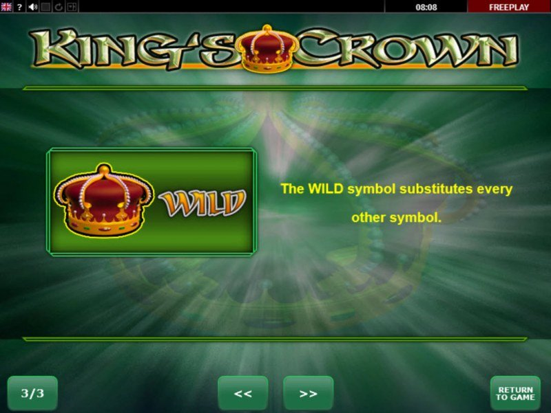 King's Crown :: Wild Symbols Rules