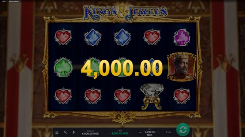 Kings & Jewels :: A three of a kind win