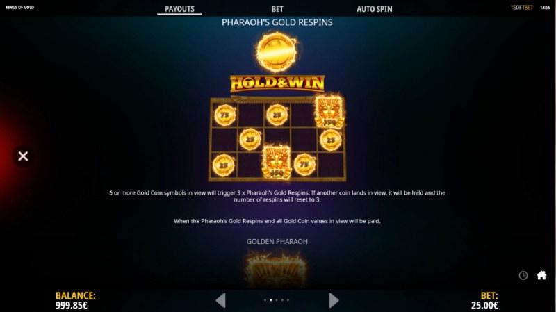 Kings of Gold :: Pharaoh's Gold Respins