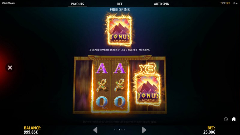 Kings of Gold :: Free Spin Feature Rules