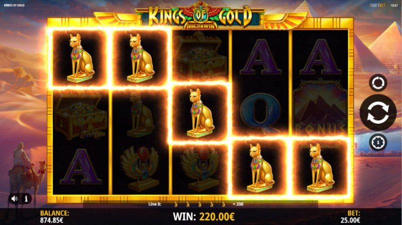 Kings of Gold :: A five of a kind win