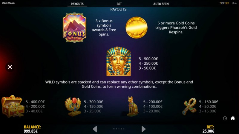 Kings of Gold :: Wild and Scatter Rules