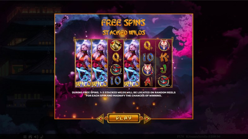 Kitsune's Scrolls Expanded Edition :: Free Spin Feature Rules