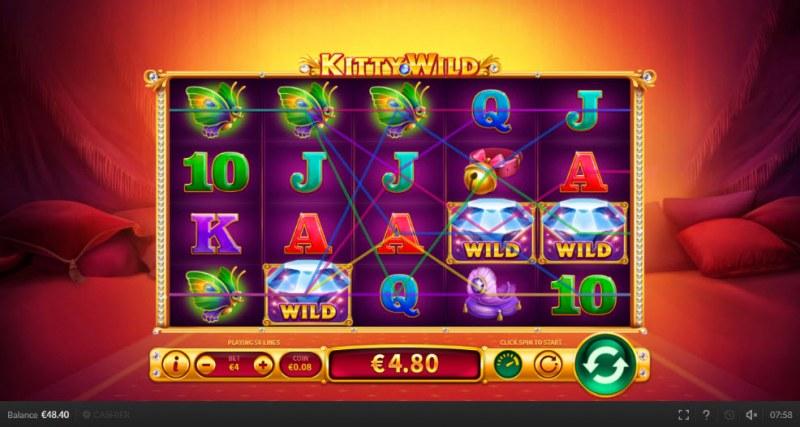 Kitty Wild :: Multiple winning paylines