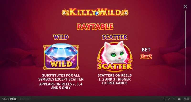 Kitty Wild :: Wild and Scatter Rules