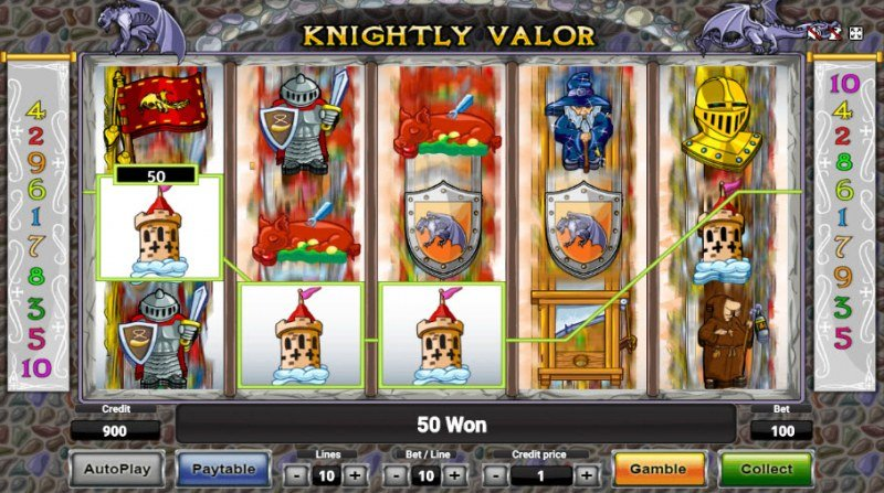 Knightly Valor :: Three of a kind