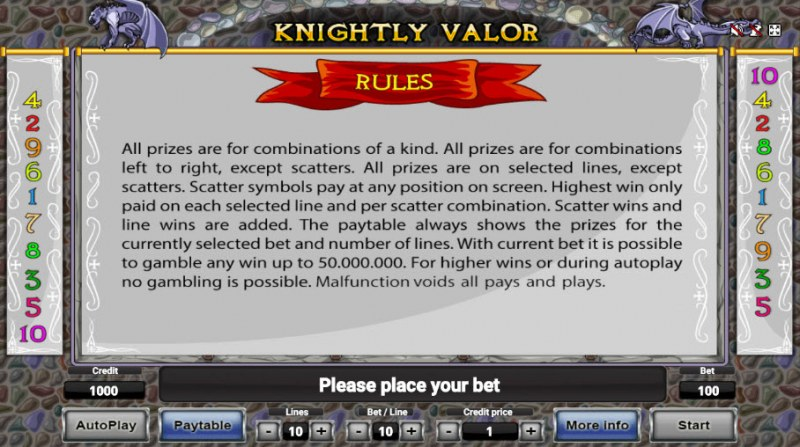 Knightly Valor :: General Game Rules