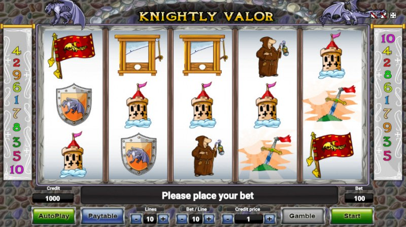 Knightly Valor :: Main Game Board