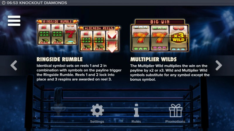 Knockout Diamonds :: Feature Rules