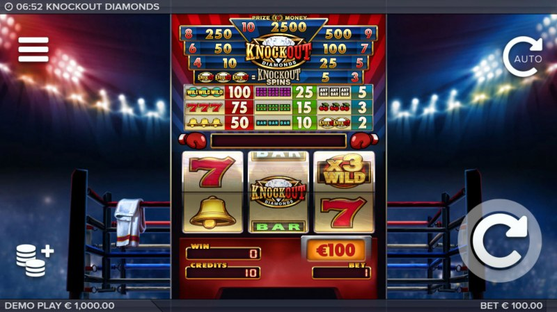 Knockout Diamonds :: Main Game Board