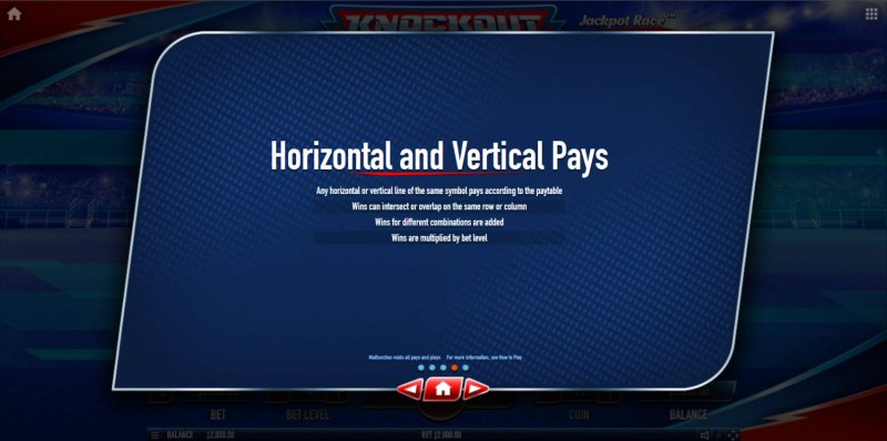 Knockout Football Rush :: Horizontal and Vertical Pays