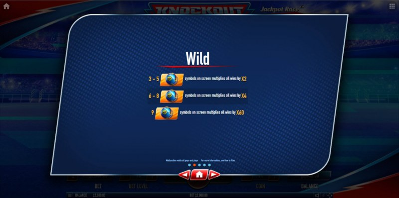 Knockout Football Rush :: Wild Symbol Rules