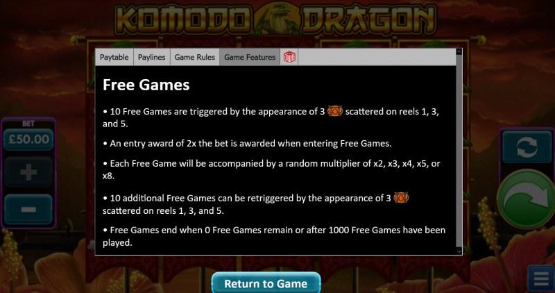 Komodo Dragon :: Free Game Rules