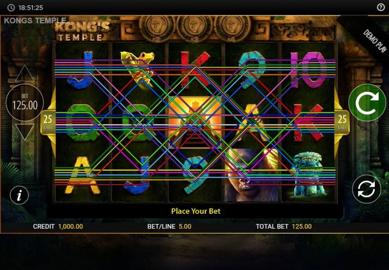 Kong's Temple :: Main Game Board