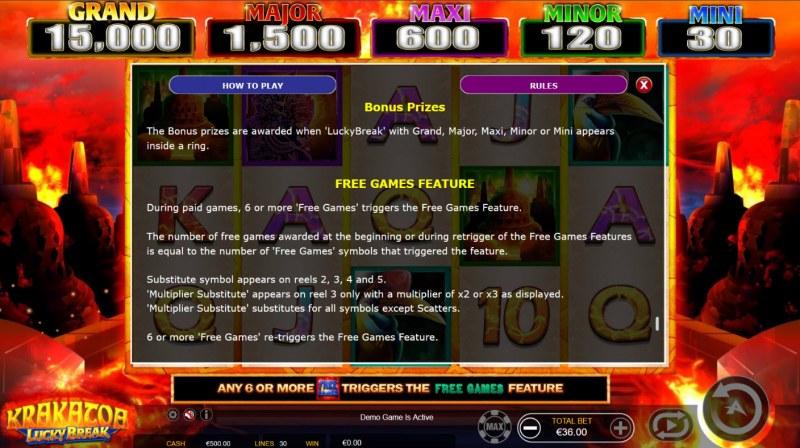 Krakatoa Lucky Break :: Free Game Rules