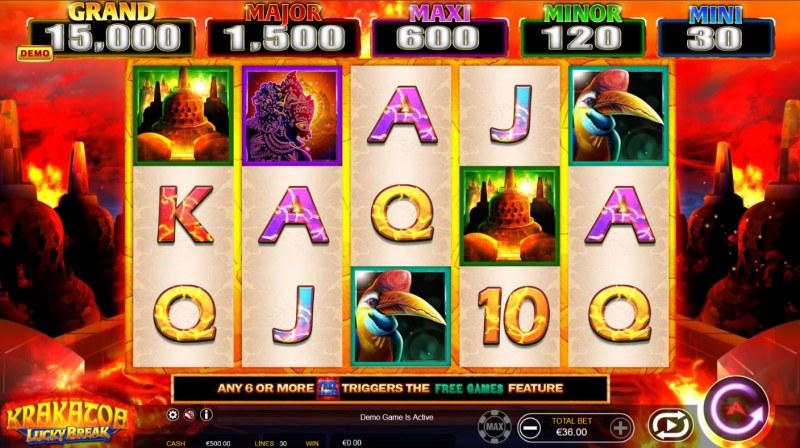 Krakatoa Lucky Break :: Main Game Board