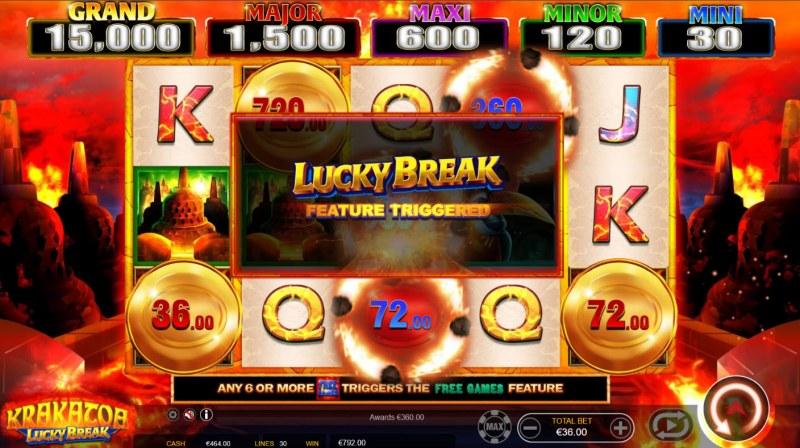 Krakatoa Lucky Break :: Lucky Break Feature