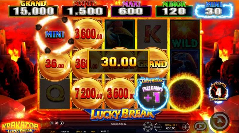 Krakatoa Lucky Break :: Collect money symbols to win big