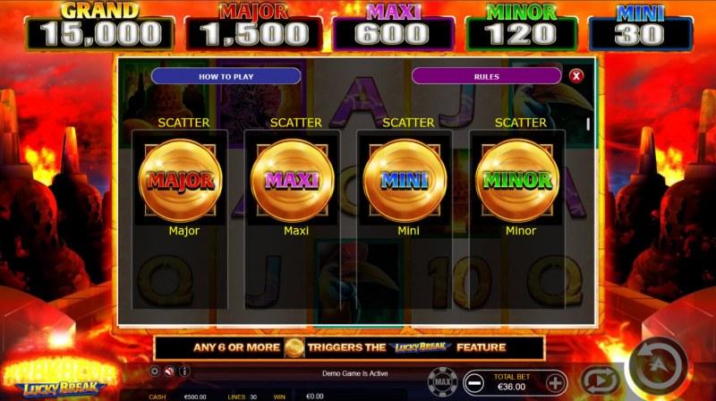 Krakatoa Lucky Break :: Jackpot Scatters