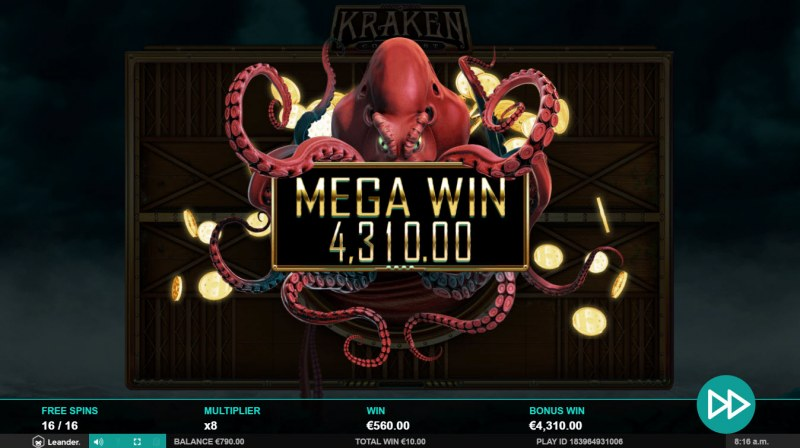 Kraken Conquest :: Total free spins payout