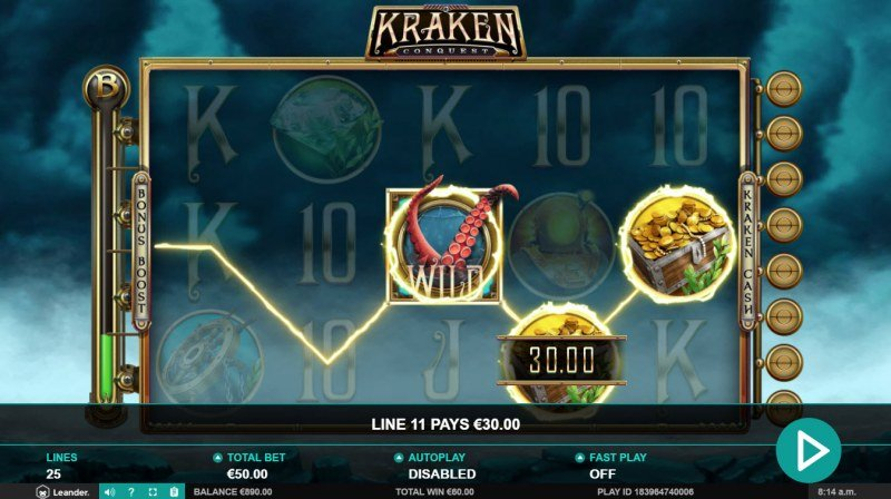 Kraken Conquest :: Game pays in both directions