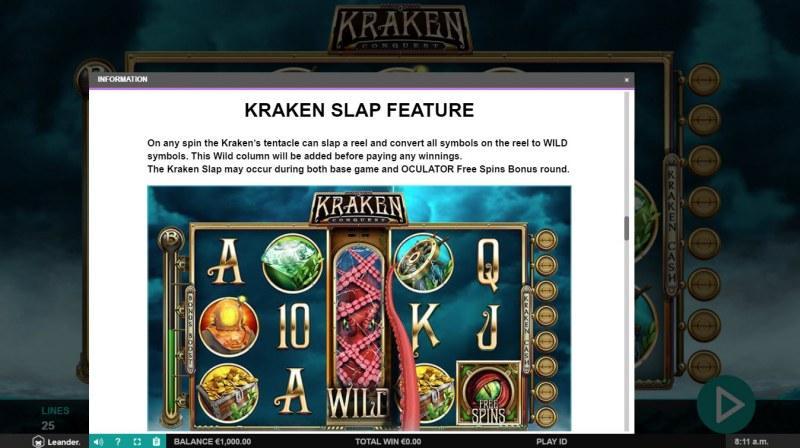 Kraken Conquest :: Kraken Slap Feature