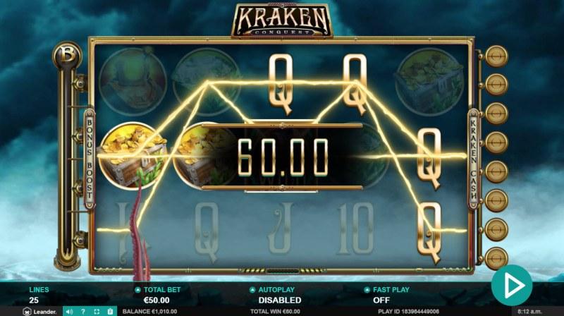 Kraken Conquest :: Multiple winning paylines